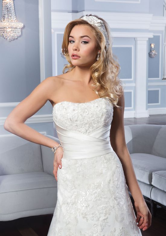 Lillian West Style 6335 Strapless Tulle A-Line Gown