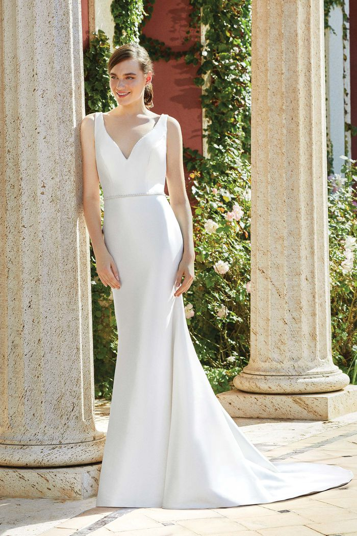Sincerity Bridal Style 44193B Thin Belt with Crystals and Beading