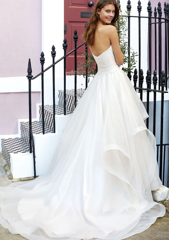 Adore by Justin Alexander Style 11137 Sweetheart Ball Gown with Pleated Bodice and Tiered Organza Skirt