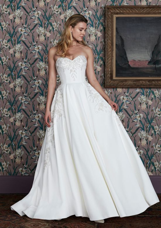 Justin Alexander Signature Style 99149 ROLLINS Satin Ball Gown Embellished with Hand Beaded Embroidery