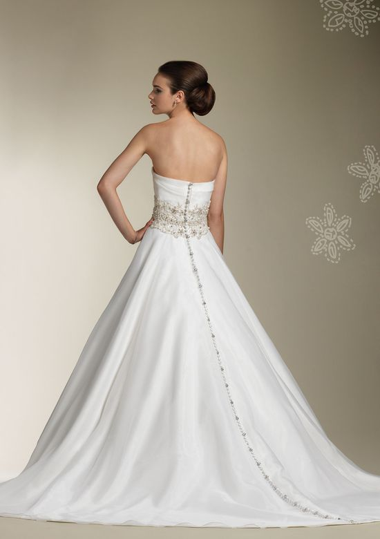 Justin Alexander Style 8609 Strapless organza ball gown