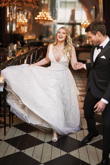 Justin Alexander Style 8953PS English Net and Tulle V-Neck Plus Size Gown with Beaded Lace appliqués