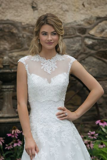 Sincerity Bridal Style 44050J High Neck Popover Jacket
