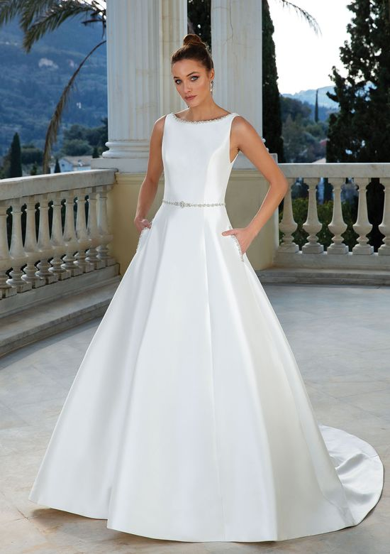Justin Alexander Style 88109B Crystal and Pearl Beaded Belt