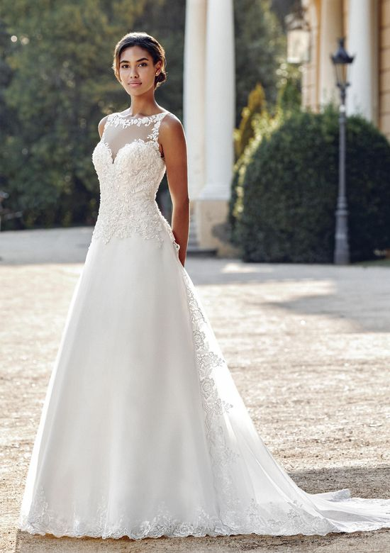 Sincerity Bridal Style 44116DT Detachable Organza Train with Hem Lace