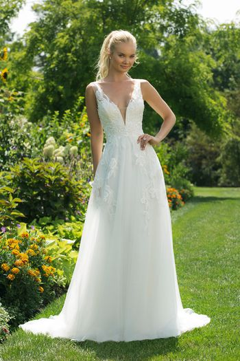 Sweetheart Gowns Style 11006 A-line Gown with Plunging V-neckline and V-Back
