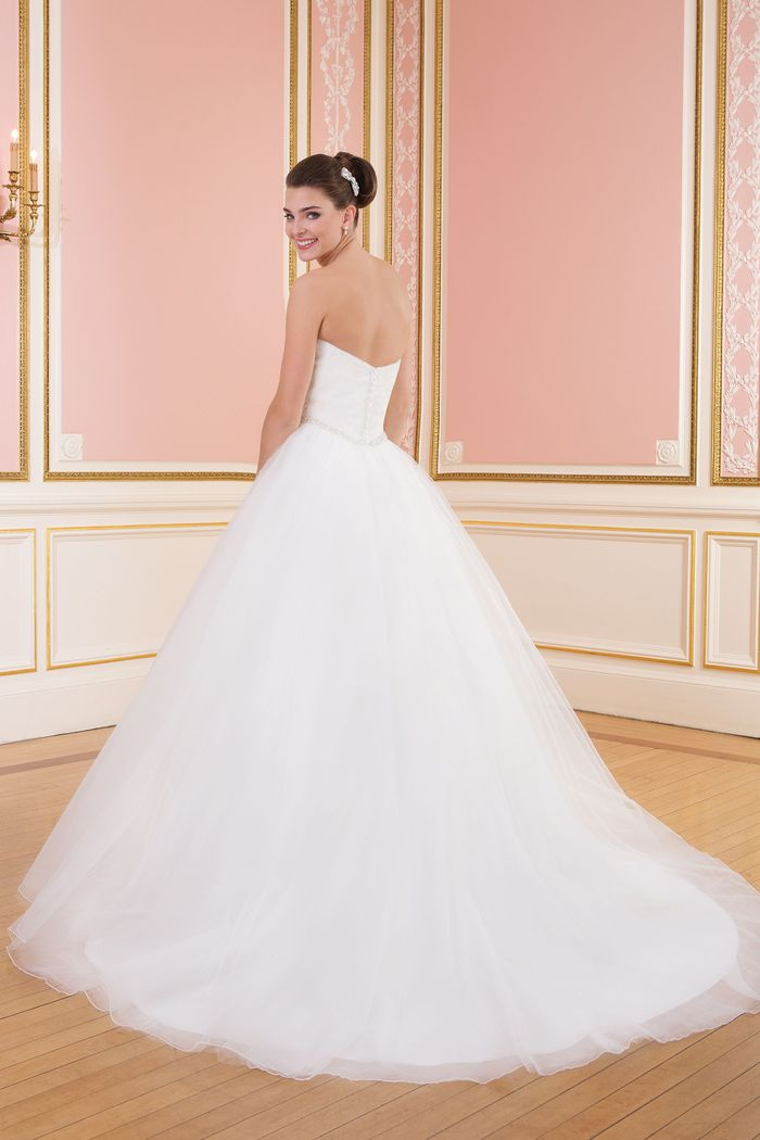 Sweetheart Gowns Style 6014 Basque Beaded Waistline Gown