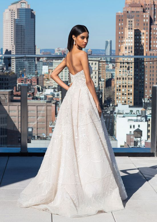 Justin Alexander Signature Style 99049 A-Line Gown with Intricate Beaded Layers