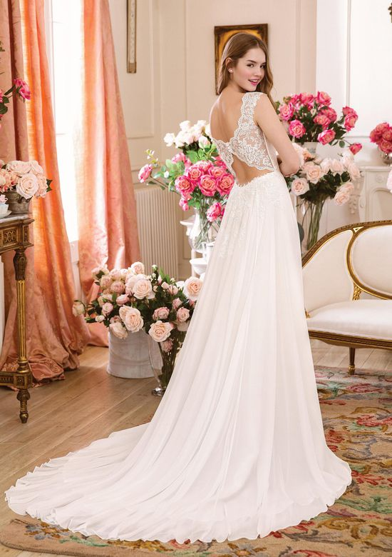 Sweetheart Gowns Style 6116 Tulle and Lace Slim A-line Dress with Sabrina Neckline