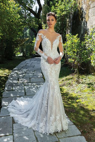 Elegant Long Sleeve Vintage Wedding Dresses Justin Alexander,Wedding Ceremony Dresses Pakistani