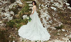 Justin Alexander Style 88198 Bianca Deep V-Neck Ball Gown with Lace Cummerbund