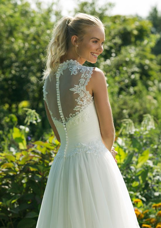 Sweetheart Gowns Style 11012 Embroidered Lace A-line Gown with Tulle Skirt