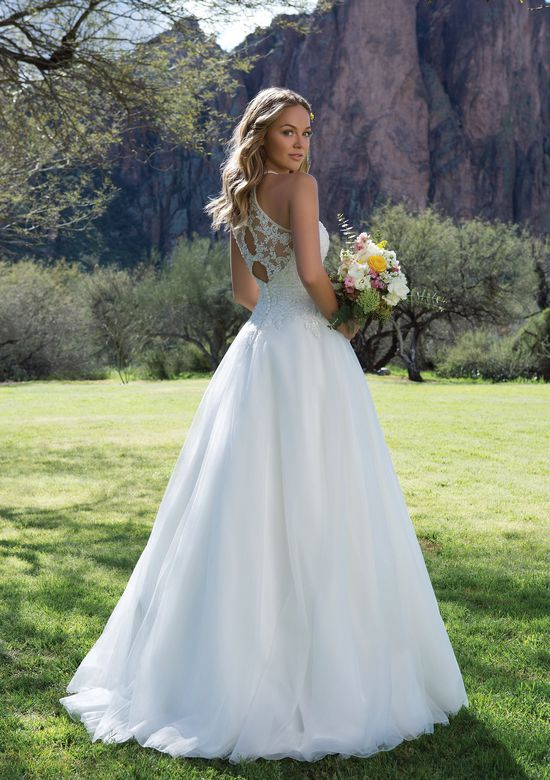 Sweetheart Gowns Style 1126 Beaded Illusion Jewel Neck A-Line Gown