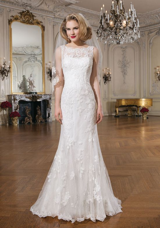 Justin Alexander Style 8530 Lace Mermaid Gown with Bateau Neckline