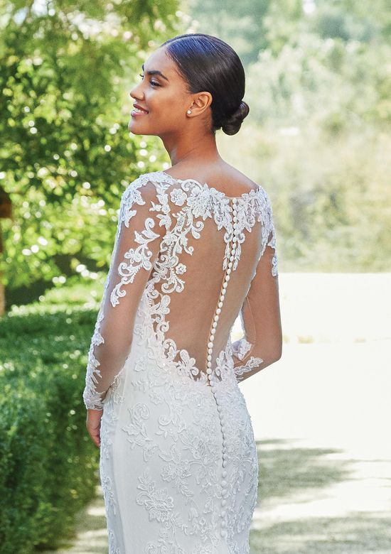 Sincerity Bridal Style 44206 Long Sleeve Beaded Lace Fit and Flare Gown