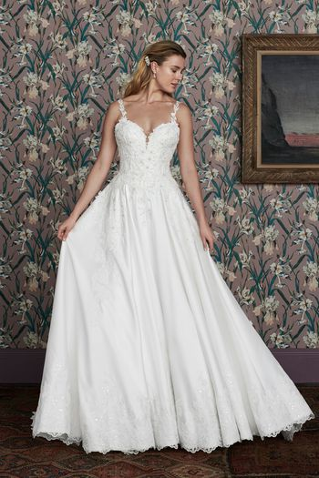 Justin Alexander Signature Style 99147 PEGGY Lace and Mikado Ball Gown with Sweetheart Neckline