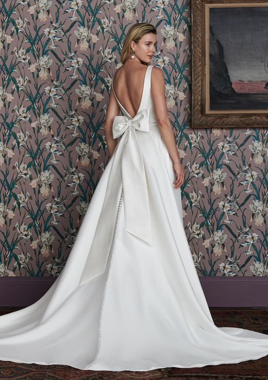 Justin Alexander Signature Style 99152 COLEMAN Ball Gown Featuring Hand Embroidered Bodice and Detachable Bow