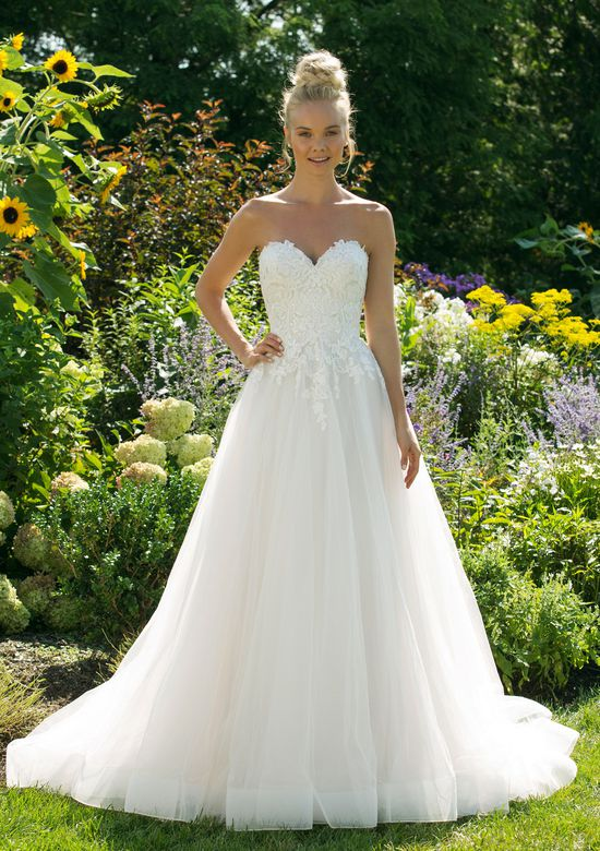 Sweetheart Gowns style 11041 Allover Lace Bodice Ball Gown with Tulle Skirt
