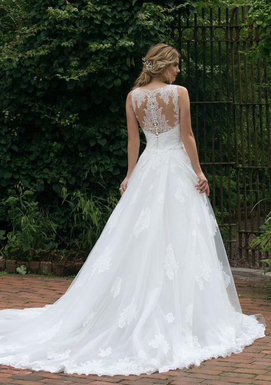 Sincerity Bridal Style 44042DT Detachable Lace Chapel Train