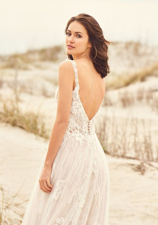 Lillian West Style 66113 Beaded Venice Lace A-Line Gown