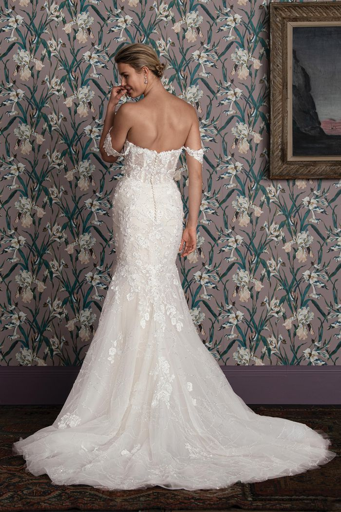Justin Alexander Signature Style 99159 PARKER Beaded Mermaid Gown with Scattered Sequin Tulle
