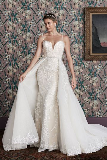Justin Alexander Signature Style 99156DT DINAH TRAIN Detachable Train with Sequin Tulle and Beaded Lace