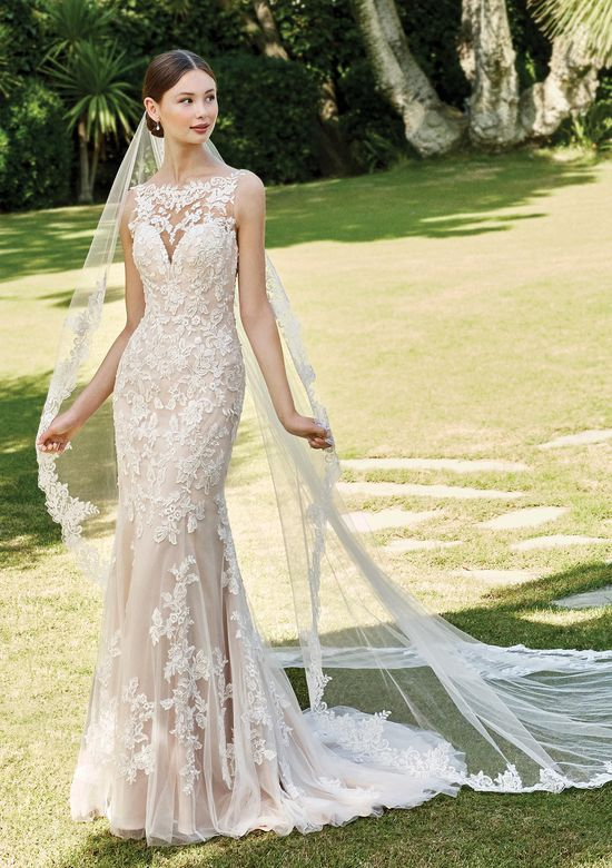 Sincerity Bridal Style 44221V2 Cathedral Length Veil with Lace Trim