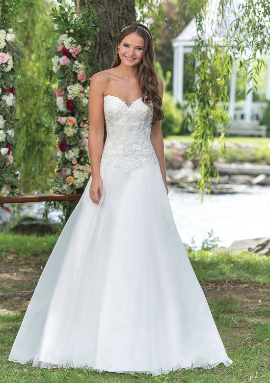 Sweetheart Gowns Style 6156 Organza and Satin Ball Gown with Basque Waistline
