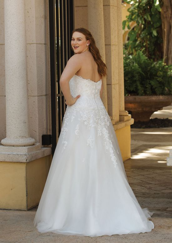 Sincerity Bridal Style 44050 Allover Lace Sweetheart A-Line Gown with Jacket