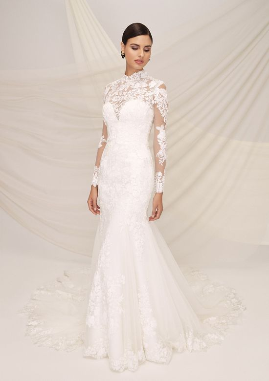 Justin Alexander Signature Style 99119J BARCELONA JACKET Mandarin Collar Lace Jacket with Sequins and Laser Cut Appliques