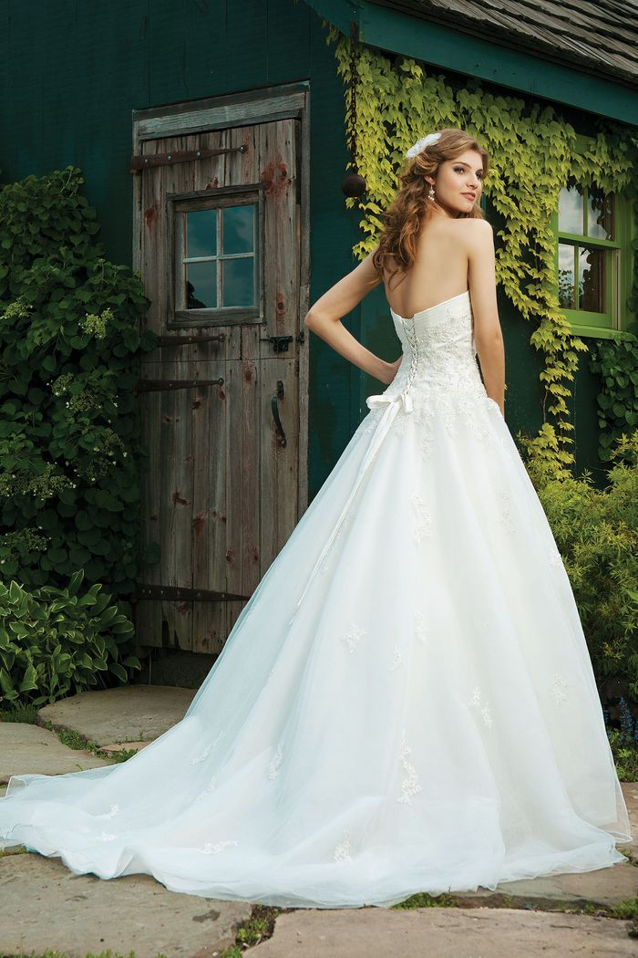 Sincerity Bridal Strapless Tulle Ball Gown