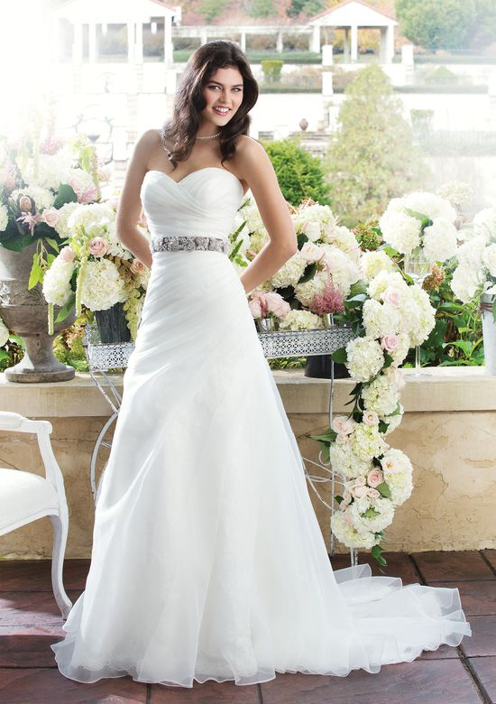 Sincerity Bridal Style 3760 Lace A-line dress featuring a sweetheart neckline