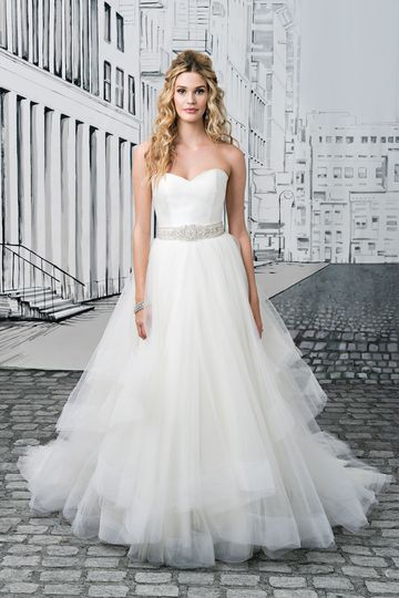 Justin Alexander Style 8779 Silk Dupion and Tiered Tulle Sweetheart Dress