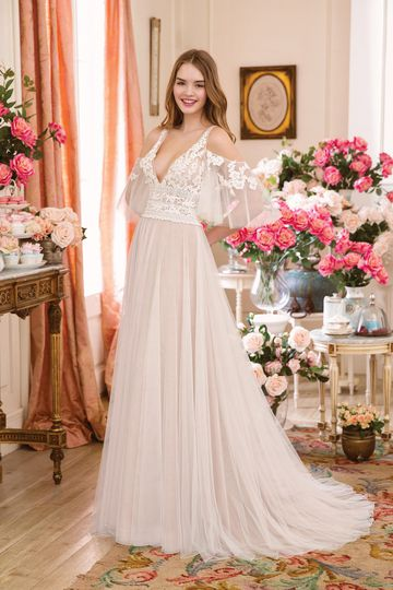 Sweetheart Gowns Style 11089SL Detachable English Net Flutter Sleeve