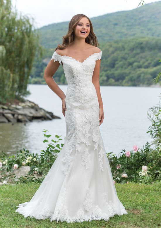 Sweetheart Gowns Style 6155 Flirty Off the Shoulder Fit and Flare