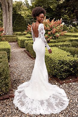 Sincerity Bridal Style 44283 Illusion Bodice Gown with Square Neckline and Detachable Sleeves
