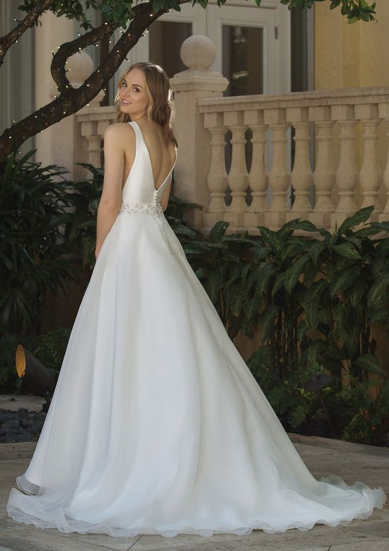 Sincerity Bridal Style 44083 Clean Ball Gown with V-Back and Side Cutouts