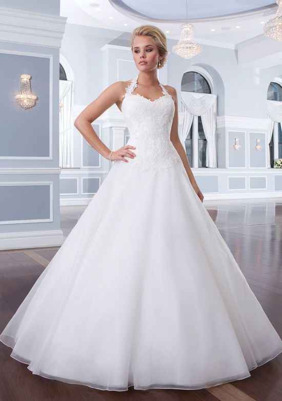 Lillian West Style 6301 Tulle Halter Ball Gown