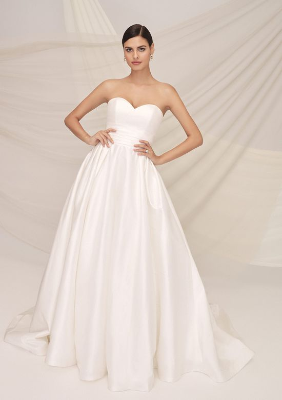 Justin Alexander Signature Style 99120 PERISSA Silk Dupion Sweetheart Ball Gown with Organza Blouson Jacket