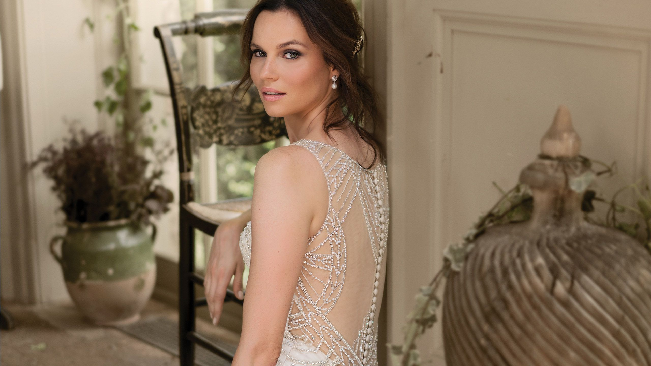 - Style 9897: Art Deco Beaded Mermaid Gown with Illusion Back