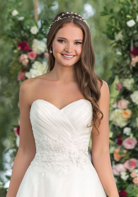 Sweetheart Gowns Style 6152 Sweetheart Neckline Ball Gown with Embellished Natural Waist