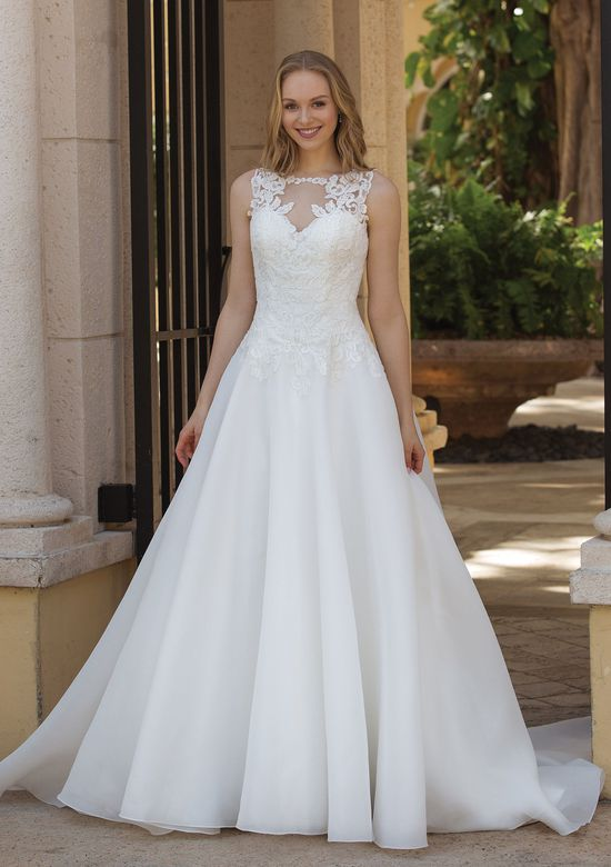Sincerity Bridal Style 44087 Corded Lace and Organza Ball Gown