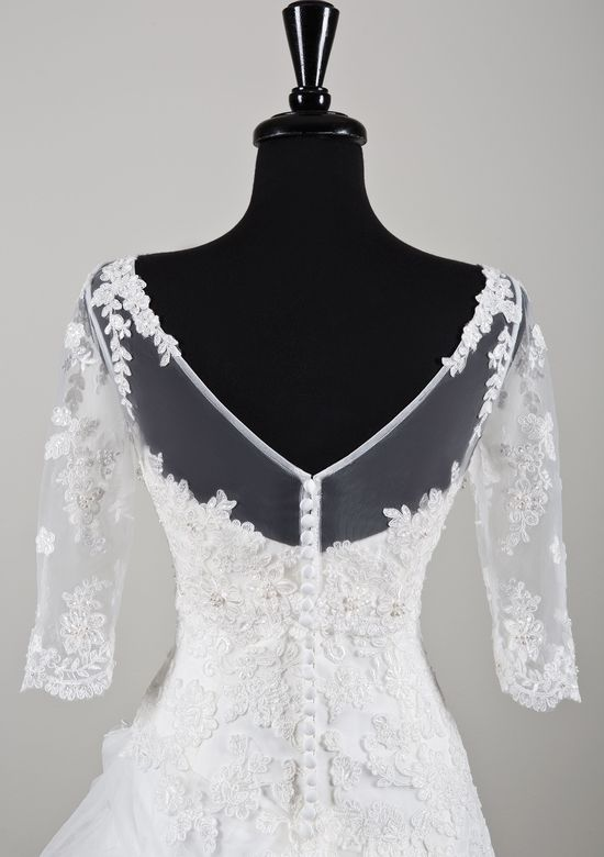 Style A070 Beaded Alencon Lace and Tulle Jacket