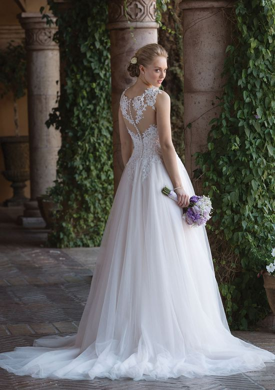 Sincerity Bridal Style 4021 Tulle Ball Gown with Basque Waist