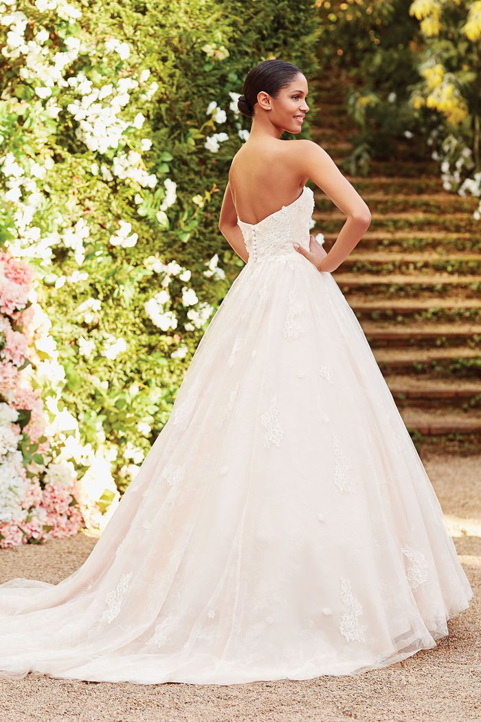 Sincerity Bridal Style 44175 Floral Chantilly Lace and Tulle Ball Gown
