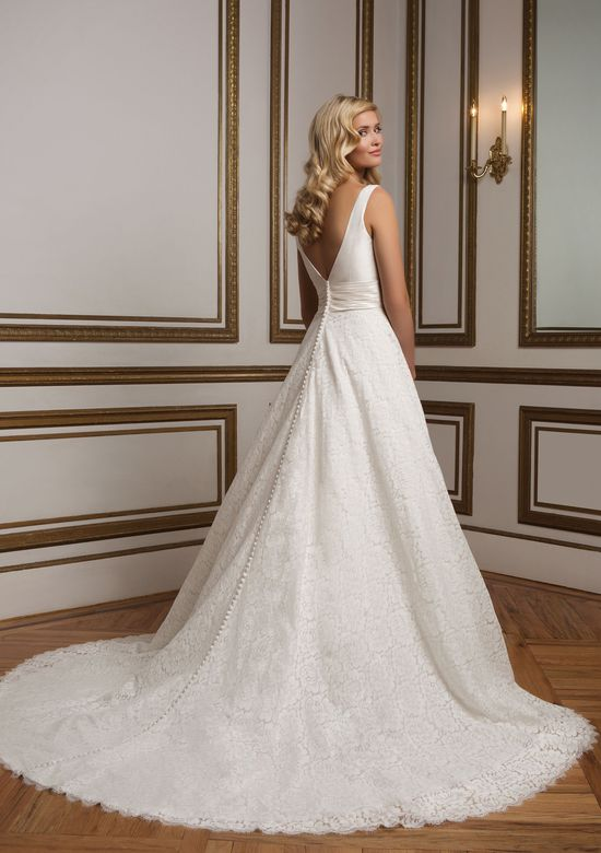Justin Alexander Style 8824 Silk Dupion and Lace Ball Gown