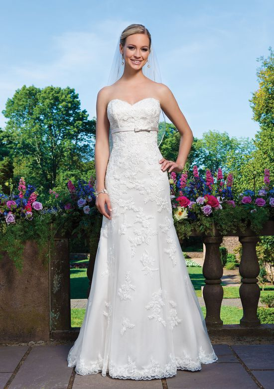 Sincerity Bridal Style 3871 Beaded Embroidered Lace Fit and Flare Gown