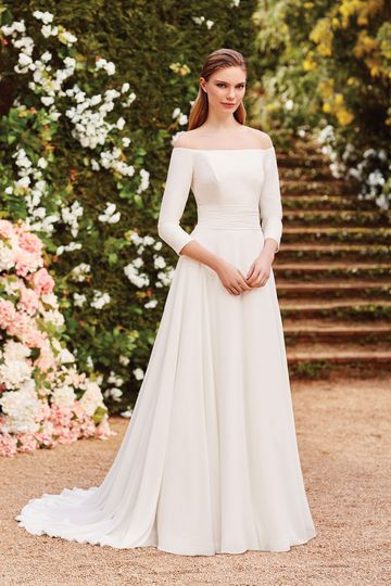 Sincerity Bridal Style 44157 Off the Shoulder A-Line Gown