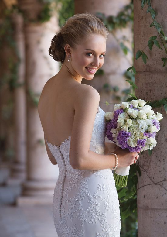 Sincerity Bridal Style 4016 Beaded Venice Lace Fit and Flare Gown with Sweetheart Neckline