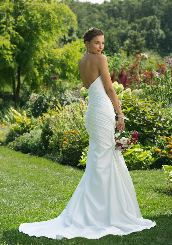 Sweetheart Gowns Style 11016 Strapless Asymmetrical Ruched Satin Gown